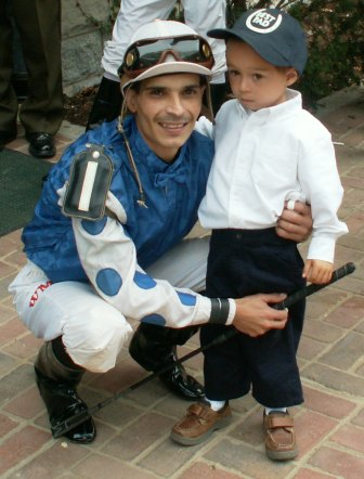 Jockey Chilly Willy Martinez with Max at Keeneland 2005